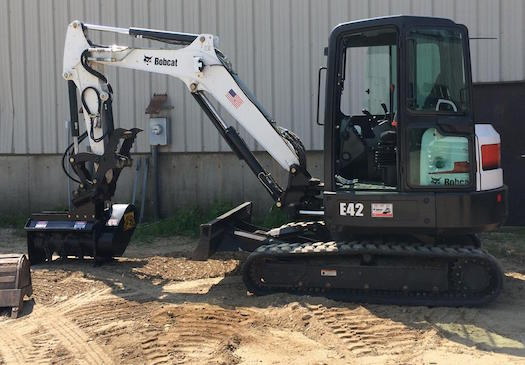 Turn your mini excavator into a mulching machine.